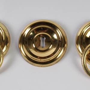 Ring beslag 55 mm doorsnee, messing