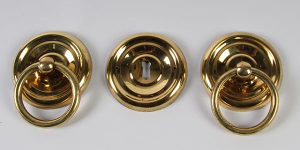 Ring beslag 65 mm doorsnee, messing